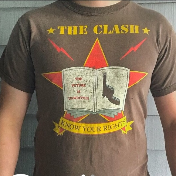 KNOW YOUR RIGHTS Joe Strummer Clash 1977 Punk Rare vintage unigue styled Tshirt